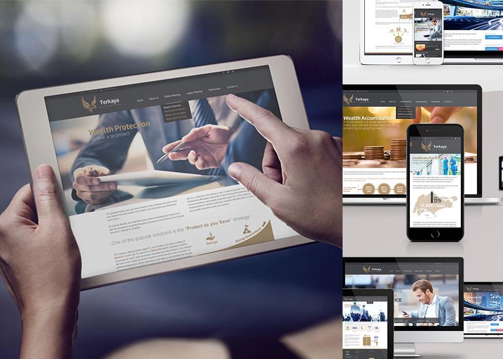 Terkaya wealth management responsive website design