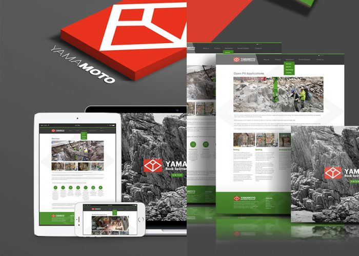 Yamamoto Rock Splitter International Website design