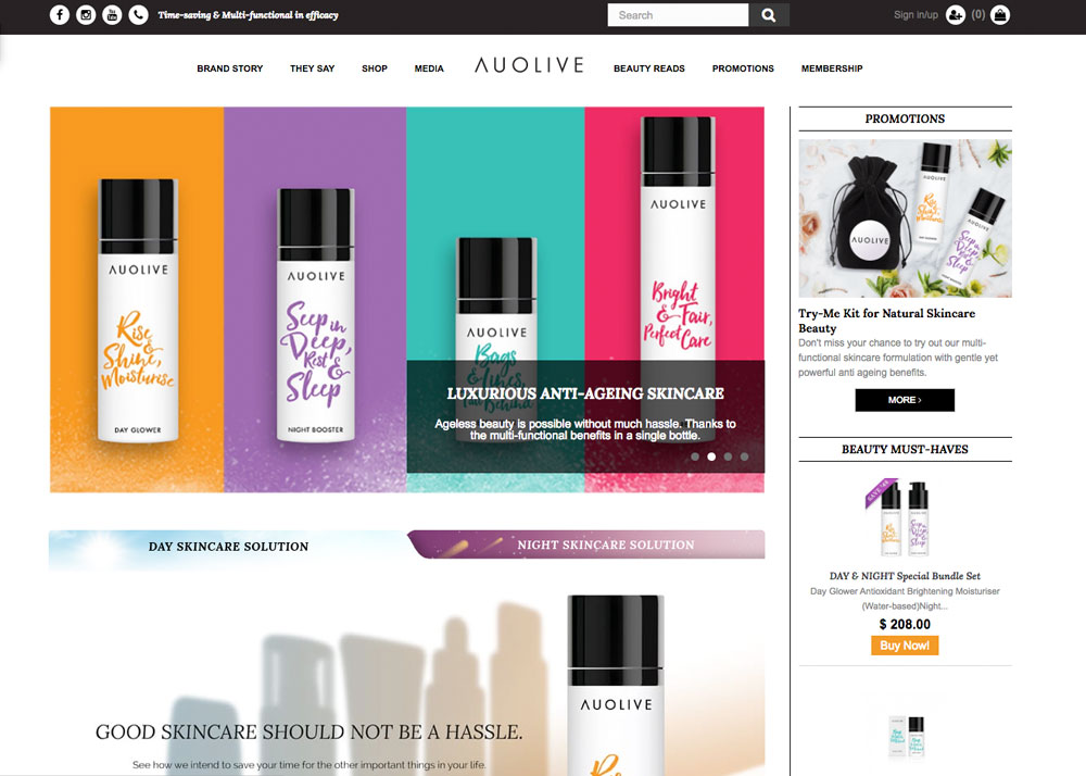 Auolive – Multi Functional Beauty Skincare