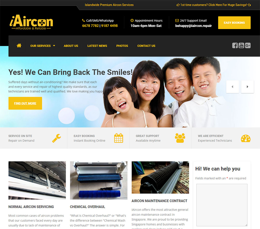 iAircon.sg – Islandwide Premium Aircon Servicing