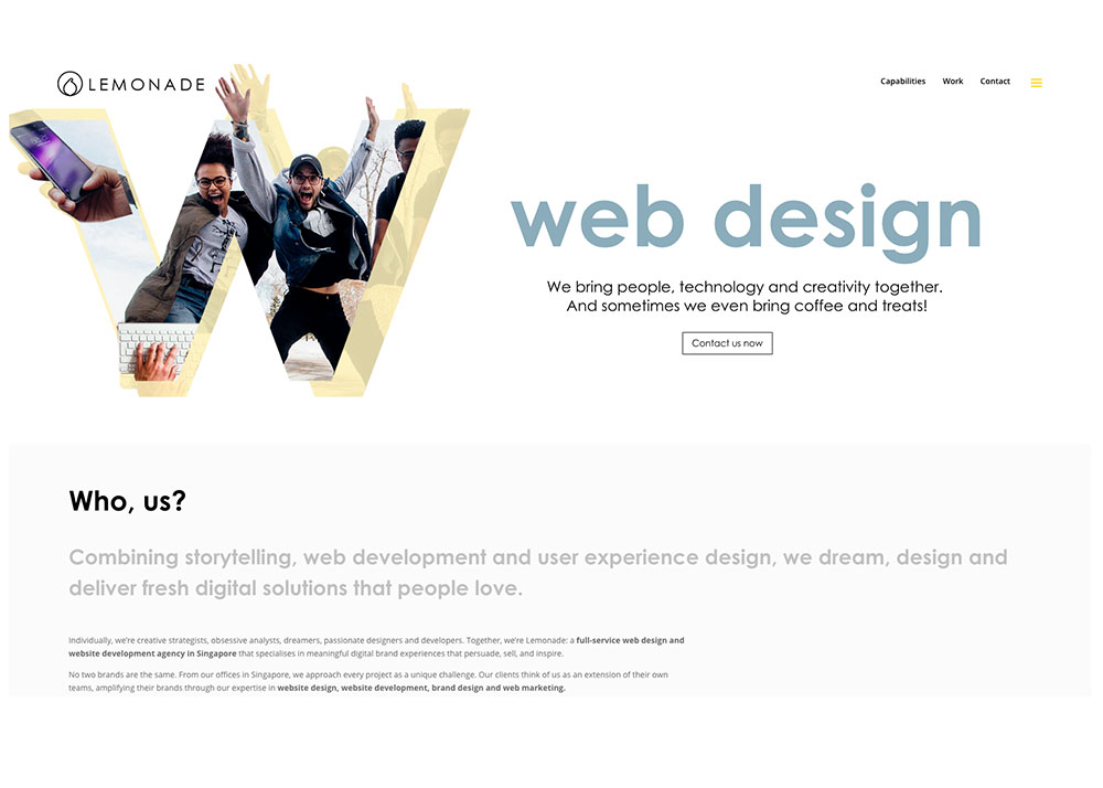 Web Design Singapore | Lemonade