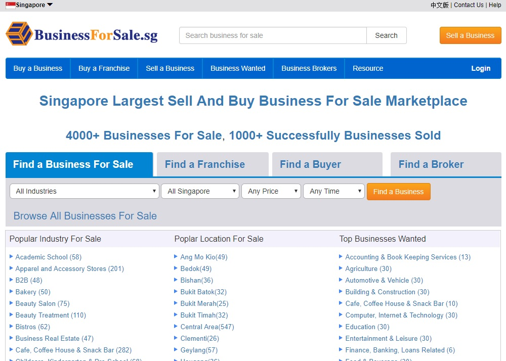 Businesses For Sale Singapore, Buy or Sell a Business and Franchise