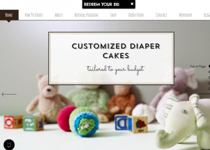 Customised diaper cakes
