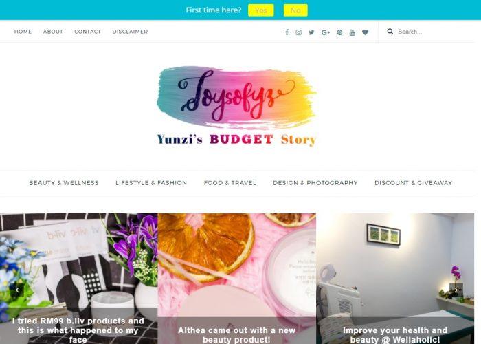 Joysofyz | Yunzi's Budget Story
