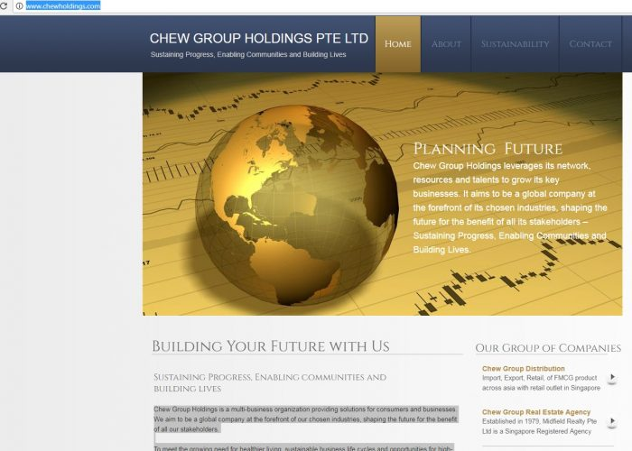 CHEW GROUP HOLDINGS PTE LTD