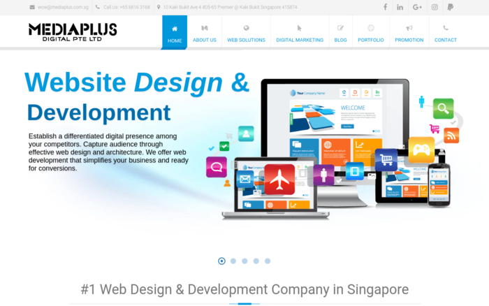 Web Designing Company Singapore – Mediaplus Digital Pte Ltd