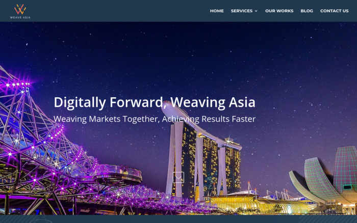 Weave Asia – Design & Digital Marketing Agency Website