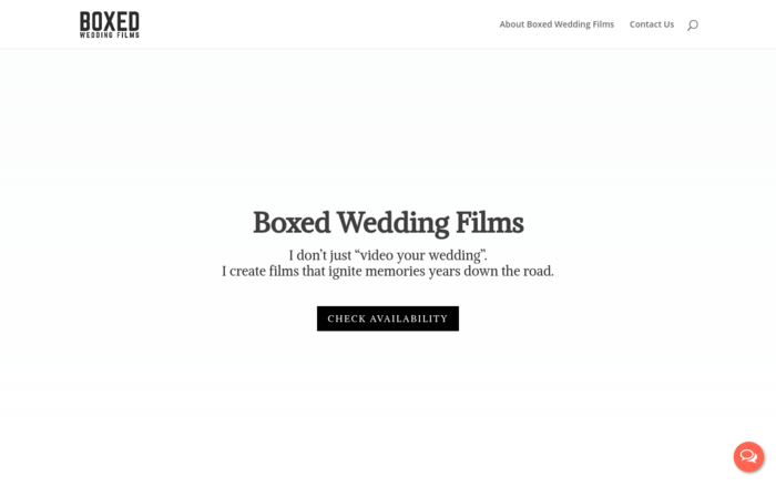 Boxed Wedding Films