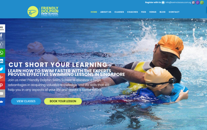 Friendly Dolphin Swim School | Swimming Lessons in Singapore