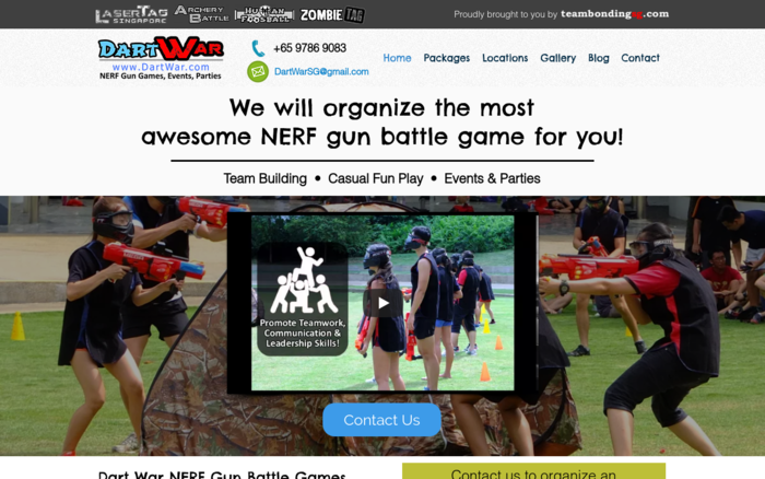 Dart War – NERF Events Organizer in Singapore