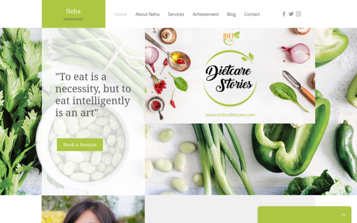 TeleHealth and Nutrition website