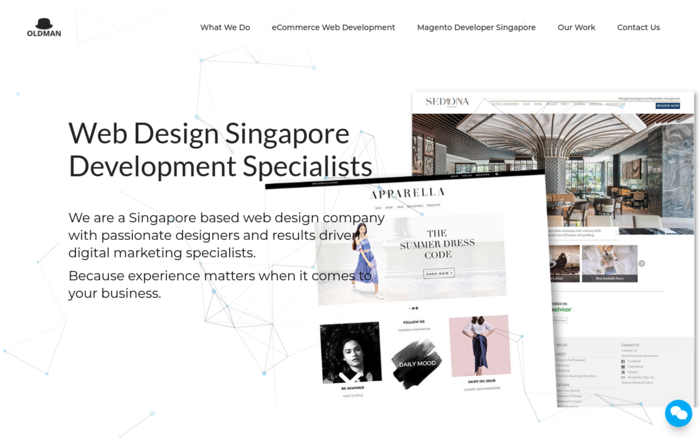 OLDMAN Marketing | Web Design Singapore