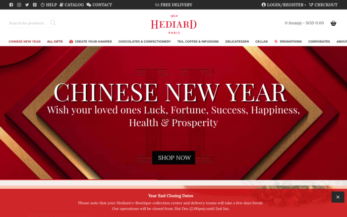 Hediard – A Onlne Store Of Chocolates & Sweets