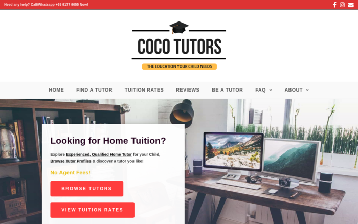 CocoTutors: #1 Trusted Home Tuition Agency in Singapore