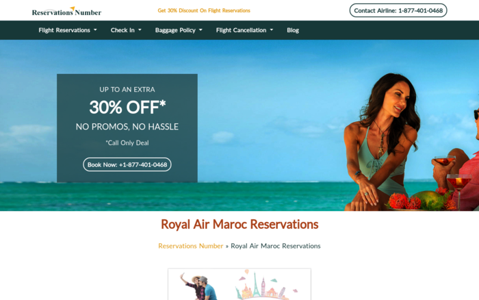Fly with Royal Air Maroc Reservations & Save 30%