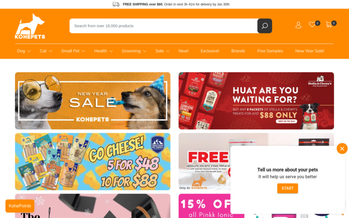 Kohepets — Online Pet Shop Singapore